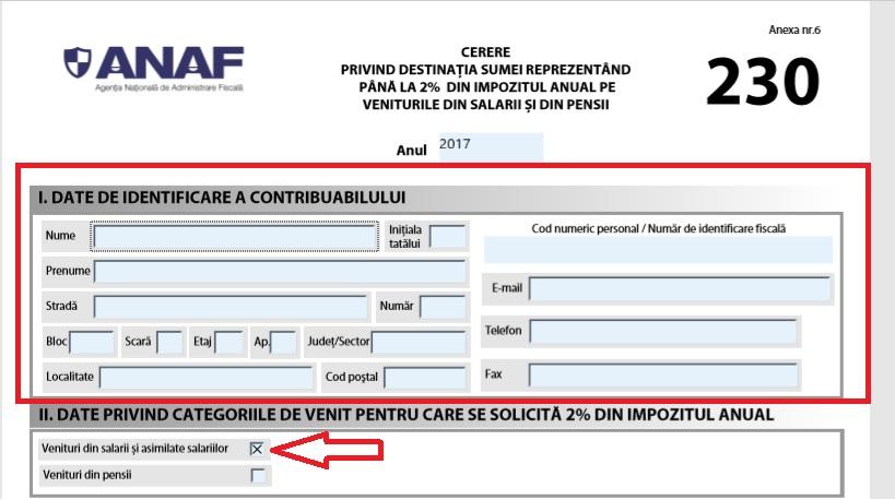 Formular ANAF